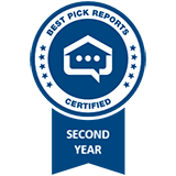 Best Pick Reports Certified Second Year badge