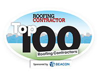 Roofing Contractor Top 100 Sponsored by Beacon logo