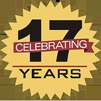 Celebrating 17 years logo