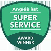 Angie's List Super Service Award Winner logo