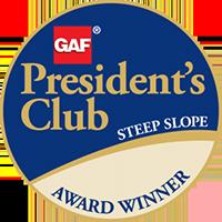 GAP President's Club steep slope award winner logo