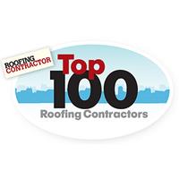 Roofing contractor top 100 roofing contractors logo