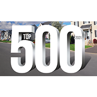 top 500 2021 over an image of houses