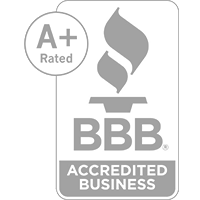 A+ rated BBB accredited business logo